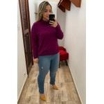 CALÇA FEMININA JEANS CLARO LOOPPER CINTURA ALTA MODELADORA