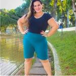 BERMUDA FEMININA GORGURAO VERDE PLUS SIZE
