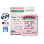 NATURE'S BOUNTY HAIR SKIN NAILS COM BIOTINA 250 CAPSULAS ORIGINAL