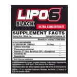 TERMOGENICO LIPO 6 BLACK ULTRA CONCENTRADO 60 CAPS