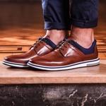 Sapato Masculino Derby Apolo Conhaque