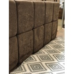 Cabeceira Casal Isis Suede Chocolate - FranBox