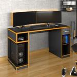 Escrivaninha Gamer IDLXP 1000 Pro Black/Laranja - Germai Móveis