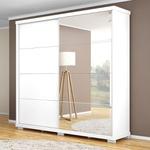 Guarda Roupa Casal 2 Portas Com Espelho Las Vegas Branco - Robel Móveis