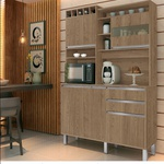 Kit Cozinha Smart Com 5 Portas 2 Gavetas Freijó - Vitamov Móveis