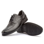 Sapato Social Brogue Masculino Koning Gel Vegas Black