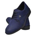 Sapato Oxford Confort Azul Marinho