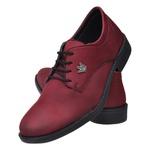 Sapato Oxfod Casual Confort Bordô