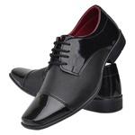 Sapato Social Masculino Em Verniz Ecológico