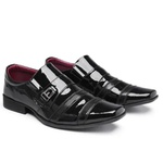 Sapato Social Bico Fino Italiano Masculino Em Verniz Ecológico