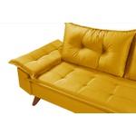 Sofá 3 Lugares Bariloche Amarelo Com Duas Banquetas Rubi