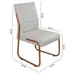 2 Cadeiras Sala de Jantar em Couro Sintético Gelo Pés Cobre