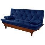 Sofá Cama Reclinável Caribe 3 Posições Essencial Estofados Azul Marinho