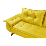 Sofá 2 Lugares Bariloche Amarelo em Suede