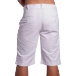 Bermuda Masculina de Sarja Com Bolso Branca Micro Pontos
