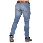 Calça Jeans Masculina Skinny Confort Light Blue