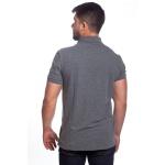 Camisa Polo Masculina Com Bolso Grafite Piquet Premium