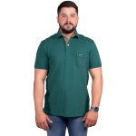 Camisa Polo Com Bolso Masculina Zegen Verde