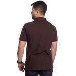 Camisa Polo Plus Size Zegen Marrom Café Sustentável Com Bolso
