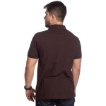 Camisa Polo Plus Size Zegen Marrom Café Sustentável