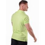 Camisa Polo Masculina Verde Neon Detalhe Azul Marinho Piquet Premium