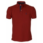 Camisa Polo Masculina Zegen Vermelha DAZM