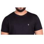 Camiseta Algodao Pima Masculina Zegen Preta