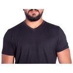 Camiseta Masculina Gola V Zegen Preta