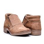 Sapato elástico couro nobuck ameixa