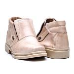Sapato elástico couro látego areia