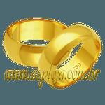 Par de Alianças de casamento ou noivado tradicional reta ouro amarelo 18K 750 7,00mm-ASP-AL-87