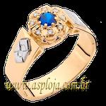 Anel de formatura em Ouro amarelo 18k 750 flor com diamantes-ASP-AF-03