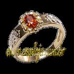 Anel de formatura em Ouro amarelo 18k 750 com pedras laterais em diamantes- ASP-AF-1106