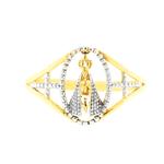 Anel de Nossa Senhora Aparecida Ouro 18K 2 Cores