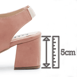 Sandalia Salto Grosso Medio Rosa Bebê- 177-02
