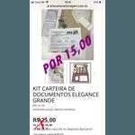 KIT CARTEIRA DE DOCUMENTOS ELEGANCE GRANDE