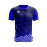 Camisa Jogo Azul com detalhes em Listras Brancas