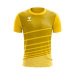 Camisa Jogo Amarela com detalhes em Listras Brancas