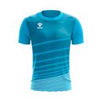 Camisa Jogo Azul Ciano com detalhes em Listras Brancas
