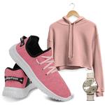 Kit Cropped Moletom e Easy V2 Feminino Pink/ Rosa+ Relogio