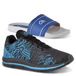 Kit Tênis Spider e Chinelo Adaption Preto Azul