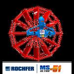 Bomba ROCHFER ULTRA-51 + Roda D'água 1,65 x 0,48 m Pás Planas