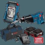 Serra Sabre à Bateria 18V GSA 18V-LI + Lanterna à Bateria 18V GLI 18V BOSCH