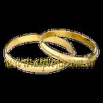 Alianças tradicional para casamento ou noivado em ouro amarelo 18K 750 2,00 mm - ASP-AL-66
