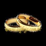 Par de Alianças de casamento ou noivado tradicional anatômica ouro amarelo 18K 750 4,50mm-ASP-AL-93