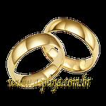 Par de Aliança de casamento ou noivado tradicional anatômica ouro amarelo 18K 750 5,00mm-ASP-AL-88