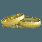 Par de Aliança tradicional anatomica ouro amarelo 18K 750 7,00mm-ASP-AL34
