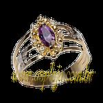 Anel de formatura em Ouro amarelo 18k 750 com pedras laterais em diamantes-ASP-AF-1117