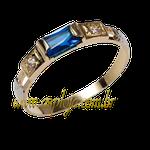Anel de formatura em Ouro amarelo 18k 750 com pedras laterais em diamantes- ASP-AF-116