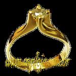Anel Solitario em Ouro 18K com 1 Pedra de Diam 0,26 Ct